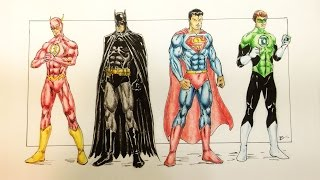 JUSTICE LEAGUE  Speed Drawing
