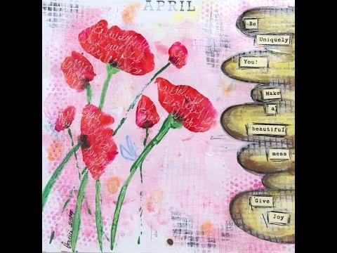 April Calendar Journal Page Using 2016 Calendar For Inspiration