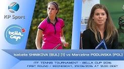 Isabella SHINIKOVA (BUL) [1] vs. Marcelina PODLINSKA (POL) / Bella Cup 2016 / 1st Round Single