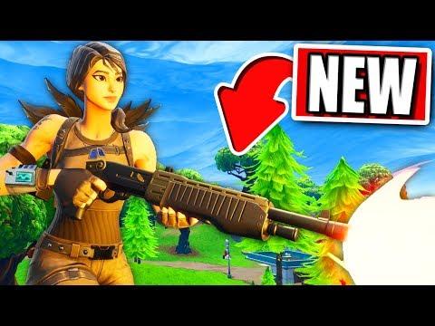 FORTNITE *NEW* Legendary Pump Shotgun Gameplay! (Fortnite: Battle Royale)