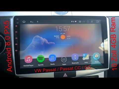 Das schönste Android 8.0 Oreo Radio 4GB RAM PX5 10 Zoll VW