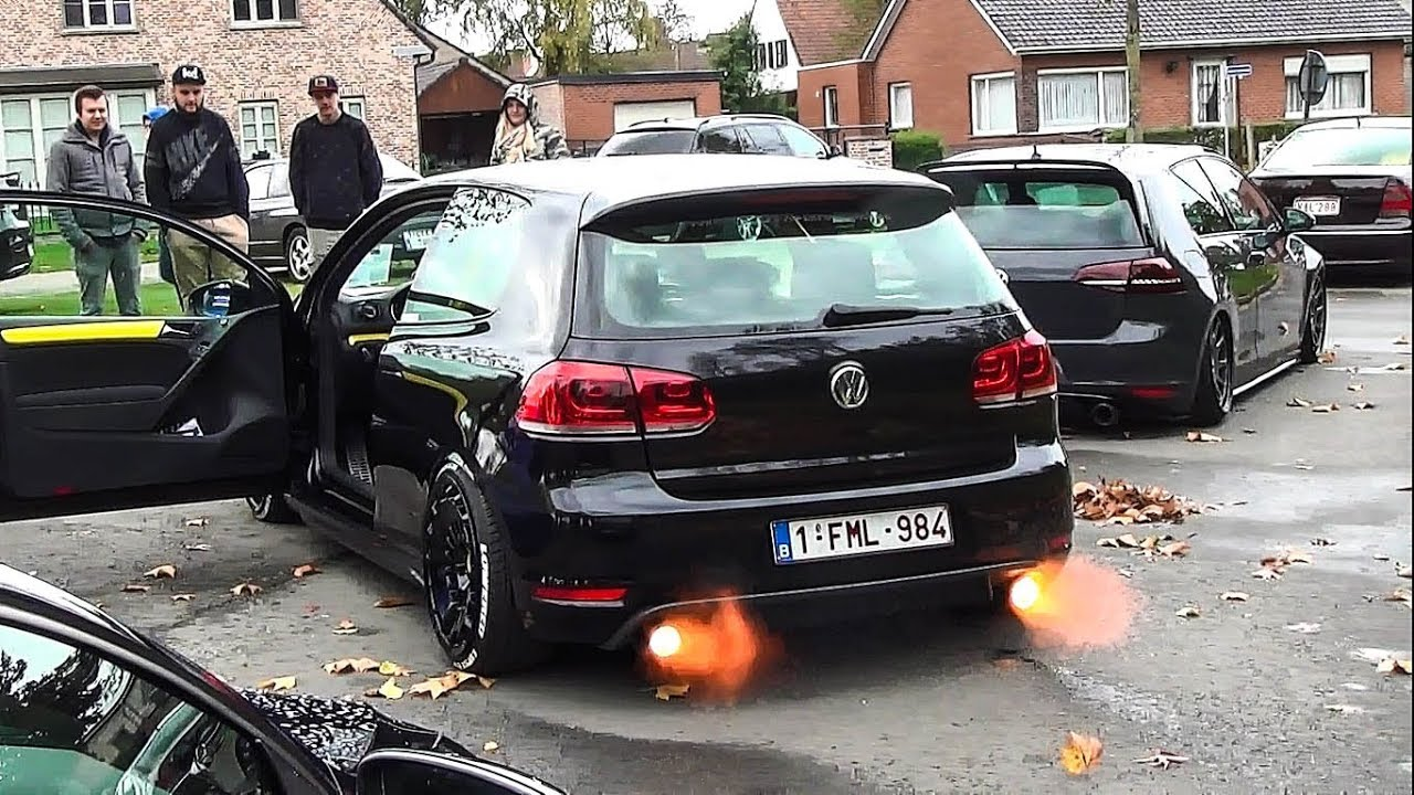 vw golf vi gti shooting flames w extreme loud bangs. Black Bedroom Furniture Sets. Home Design Ideas
