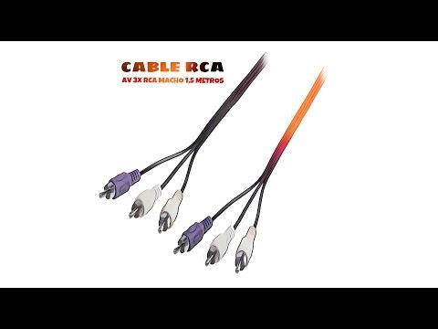 Video de Cable AV 3x RCA macho 1.5 M Negro