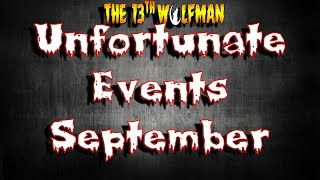 Unfortunate Events September 2018