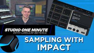 Quick Sampling Trick for Impact XT #StudioOneMinute