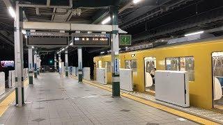 【終電撮影】西武池袋線・練馬駅と黄色の最終電車