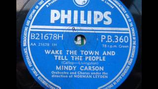 MINDY CARSON - WAKE THE TOWN AND TELL THE PEOPLE - Philips PB360 DoGramofonuPL