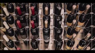 Modern Wine Cellar featuring Cable Wine System, 'Kitchen Design'