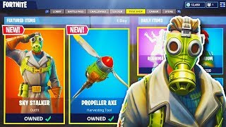 "NEW ""SKY STALKER"" SKIN + ""PROPELLER AXE"" in Fortnite! - NEW Fortnite UPDATE (Fortnite Battle Royale)"