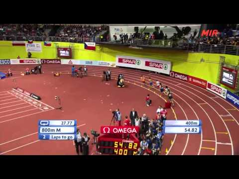Men 800m Final European Athletics Indoor Championships Praha 2015