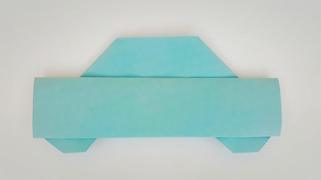 origami car easy for kids youtube