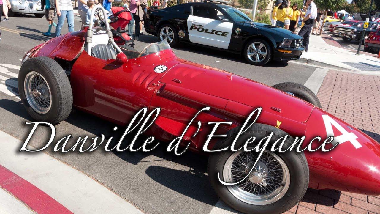 2014 Danville d Elegance Race Cars leaving the show
