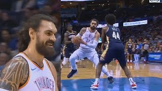Steven Adams Embarrasses Himself After Worst Travel On Euro Step Attempt! Thunder vs Pelicans