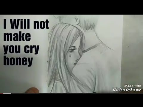 Drawing The GIRL CRY ON THE BOY SHOULDER Step By Step FOR BEGINNER