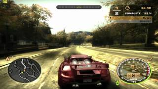 Need For Speed Most Wanted [2005] gameplay on MSI GX 610 laptop / Radeon HD2600