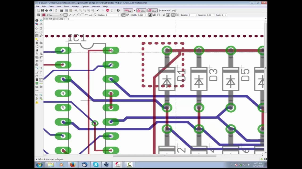 How to use Polygon Ranking in Autodesk EAGLE - PCB Design - YouTube