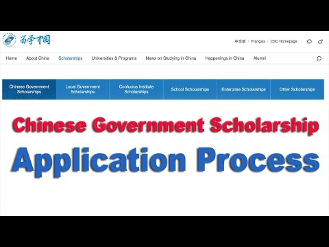Chinese Government Scholarship Application process