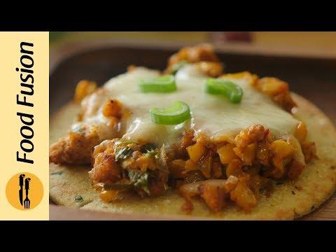 Cheesy corn flatbread recipe By Food Fusion