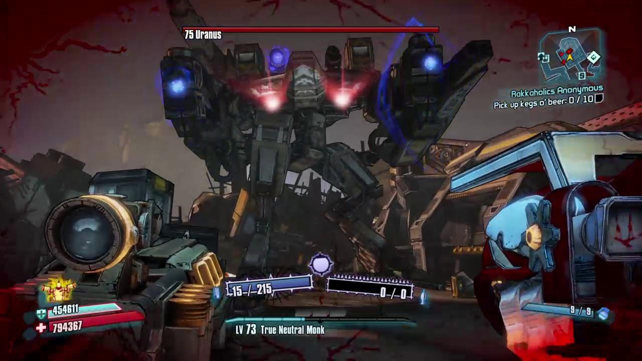 Borderlands 2 - Uranus bot vs  Flakker/Duuurp - one shot