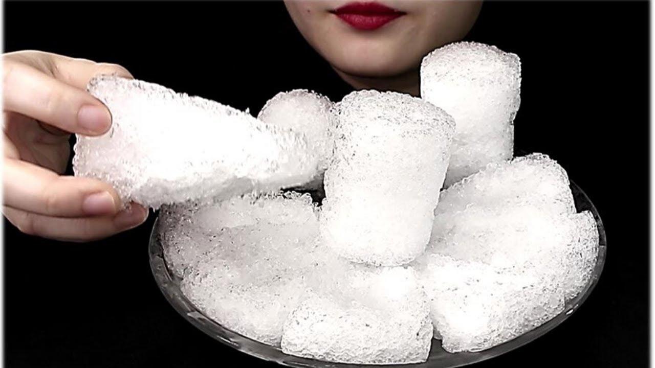 ASMR Eat Ice| Pizza Shavedice | 氷を食べる音  Thánh Ăn Đá  얼음 리얼사운 Buz Yemek Satisfying
