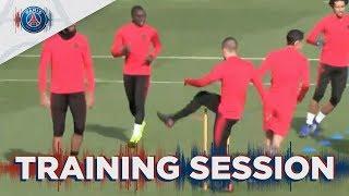 15 minutes d'entraînement avant SSC Napoli - Paris Saint-Germain