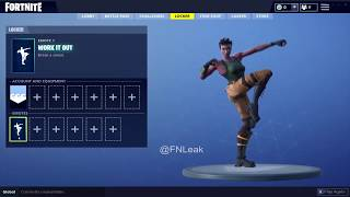 "NEW Leaked Rare Emote ""Work it out"" 