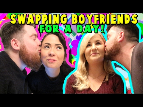 SWAPPING BOYFRIENDS FOR THE DAY! | Kelly and Carly Vlogs