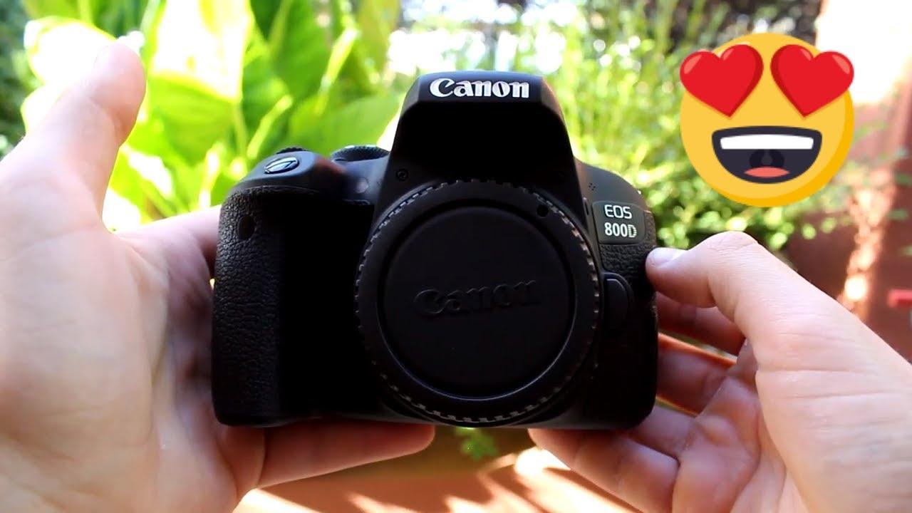 Canon 800D (T7i) Dual Lens Kit Unboxing & Demo!