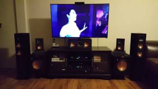 onkyo tx nr636 and klipsch 2 r24f 1 r 25c 4 r 14m 2 10sw subs set up