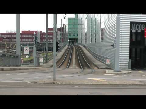 tram and train tracks in Basel, Switzerland