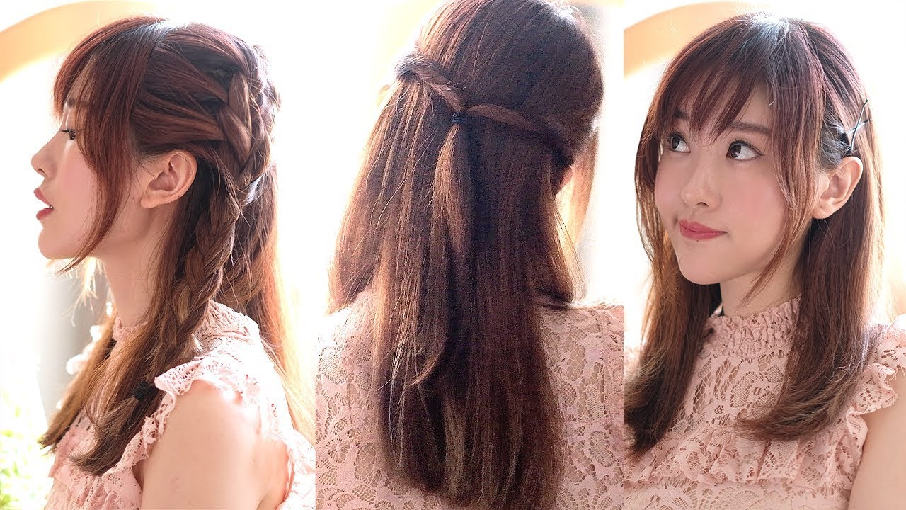 4 Gaya Rambut Poni Simpel Lucu 4 Cute Hairstyles For Bangs Eng Sub Jess Yamada Youtube