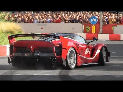 Ferrari FXX K EVO screaming on the streets of Milan during the 2018 F1 Live Festival!
