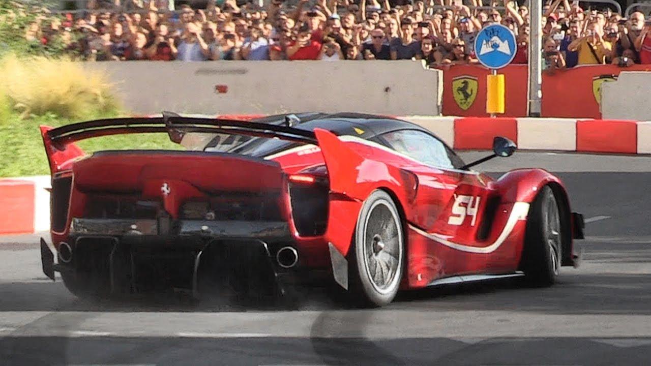 Ferrari Fxx K Evo Screaming On The Streets Of Milan During The 2018 F1 Live Festival Youtube 2018 ferrari fxx k evo 4k 3