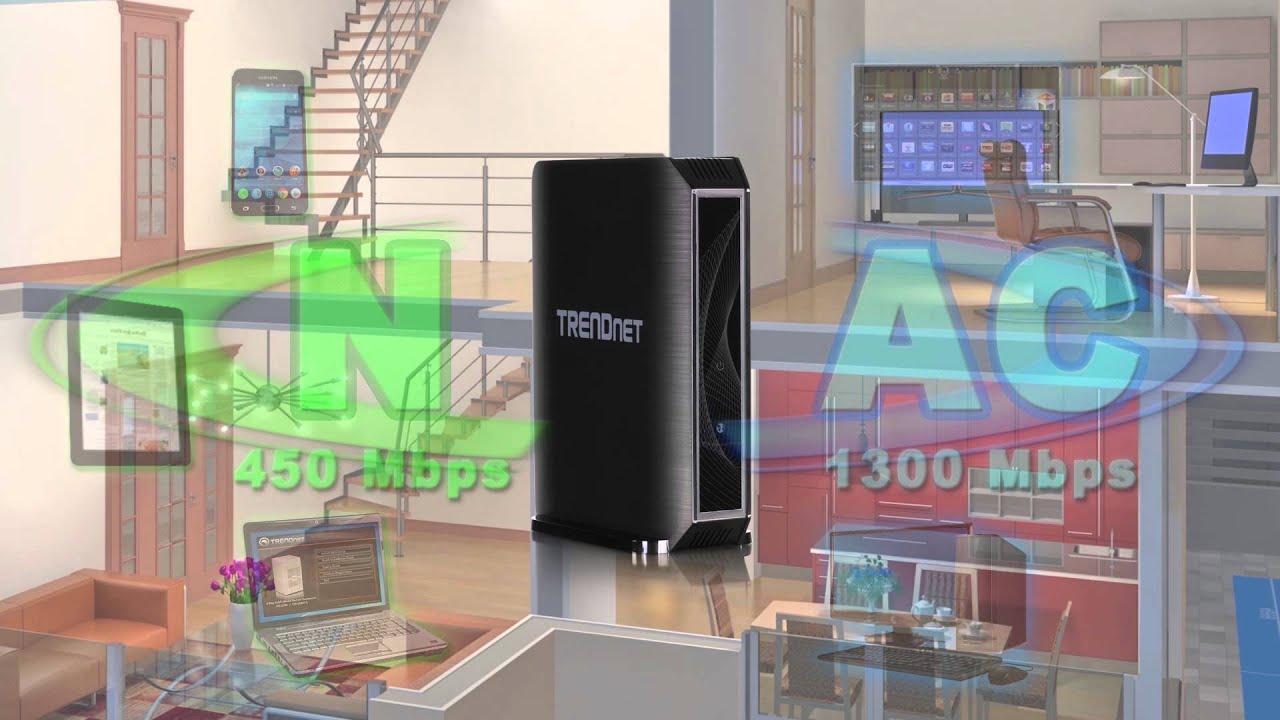 TRENDnet TEW-823DRU Router Wireless de Banda Dual AC1750