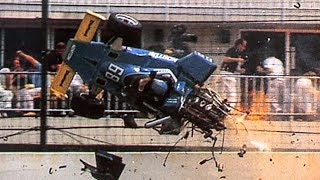 Tom Sneva Big Crash 1975 Indy 500