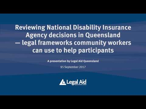 Reviewing National Disability Insurance Agency decisions in Qld–legal frameworks community workers