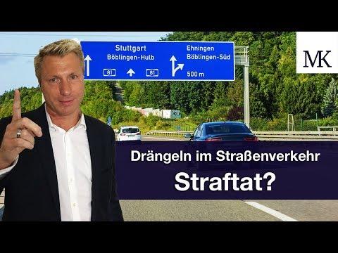Drängeln im Straßenverkehr - eine Straftat? #FragMingers