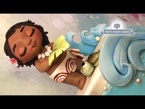Moana cake : Baby Moana cake topper ocean cake