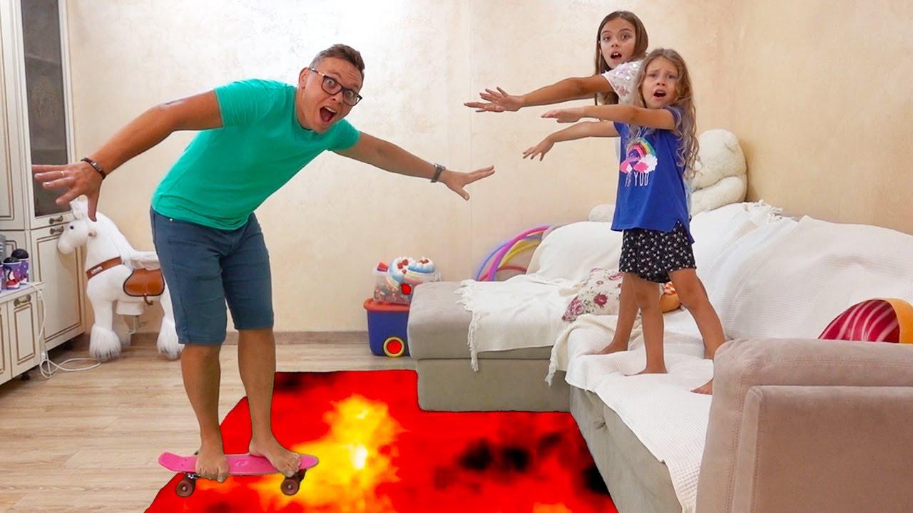 Download The Floor is Lava cu Melissa,Jasmina si Taticu