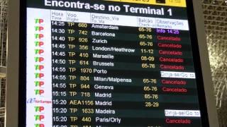 Aeroporto de Lisboa Partidas Canceladas Lisbon Airport  Departures Cancelled