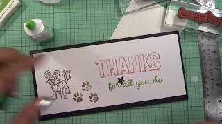 3 Minute Thank You Card   Week 16