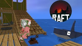 Monster School : RAFT CHALLENGE - Minecraft Animation