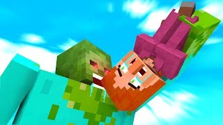 Zombie vs Villager Life 1-4 - Craftronix Minecraft Animation