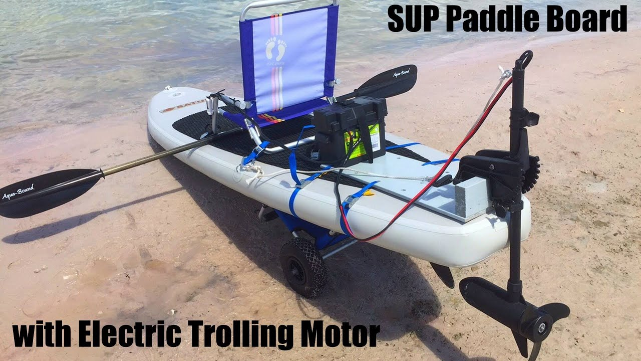 Saturn Inflatable Sup With 55lbs Electric Trolling Motor