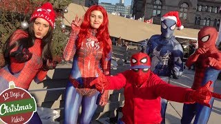 Spider-Man: SPIDER-VERSE GIVING GIFTS FLASH MOB - ...