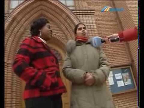 На католическое Рождество в Донецке появился африканский вертеп