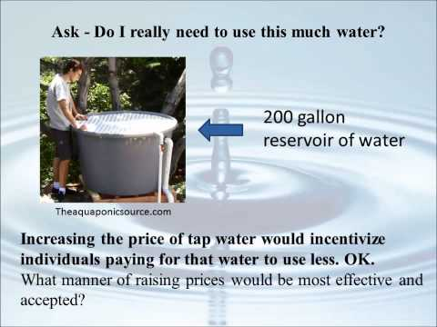 Increasing the Cost of Water to Promote Water Conservation