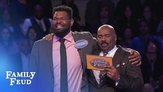 Can Terrance get 43 points for $20,000? | Family Feud