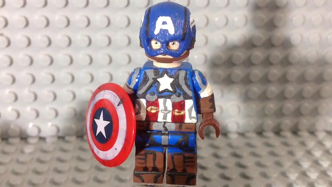 Lego MARVEL: Captain America (Golden Age)- Custom Minifigure - YouTube