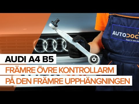Så byter du främre övre kontrollarm på den främre upphängningen på AUDI A4 B5 [GUIDE]